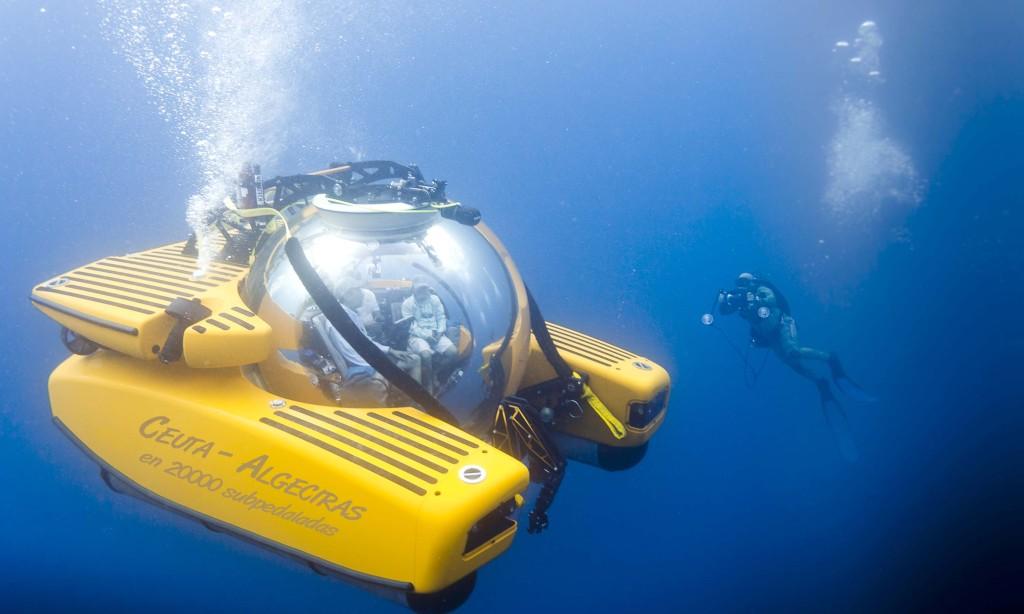 Una empresa de minisubmarinos a pedales proyecta unir Ceuta con Algeciras bajo el mar