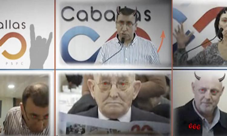 El PP descubre un mensaje satánico en un vídeo de Caballas