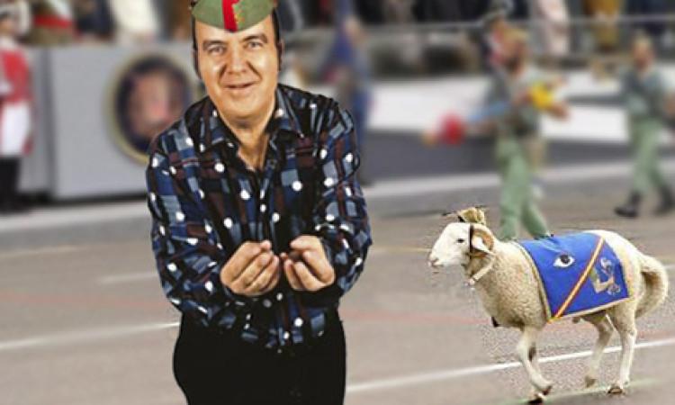 Defensa despide a la cabra de la Legión por desfilar como Chiquito de la Calzada